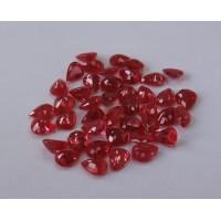 Ruby-Pear: 5mm x 4mm