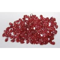 Ruby-Pear: 6mm x 4mm