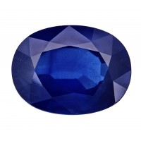Sapphire-Oval: 3.89ct