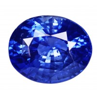 Sapphire-Oval: 5.21ct